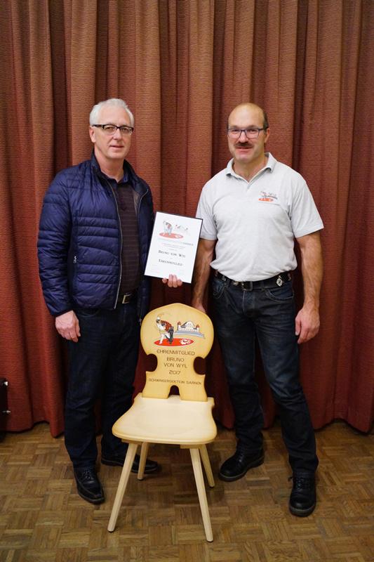 Ehrenmitglied Bruno von Wyl